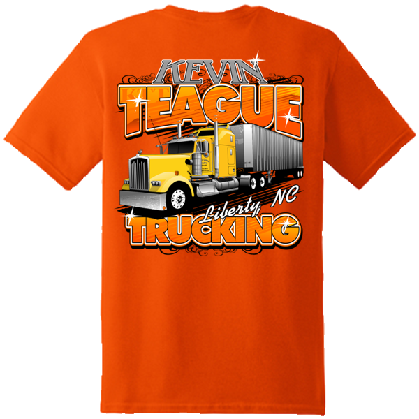 Kevin Teague Trucking Screen Printed Tee Shirt Sample